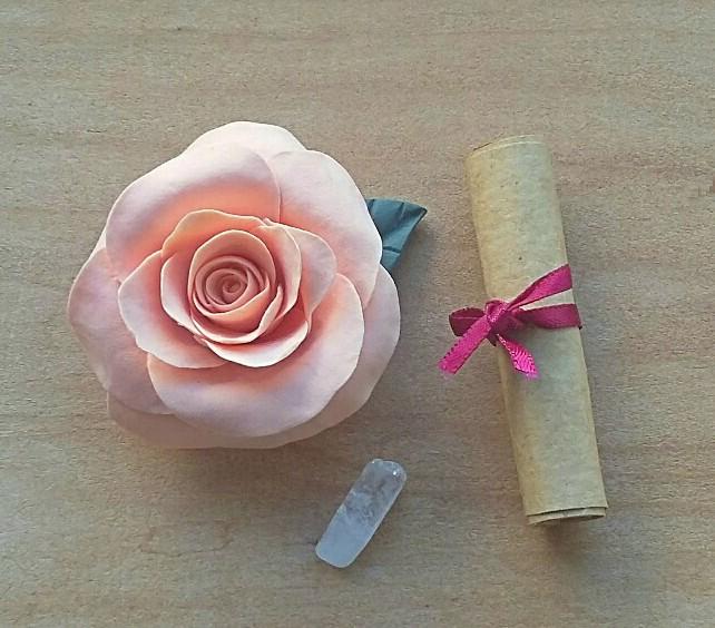 Hand made peach rose