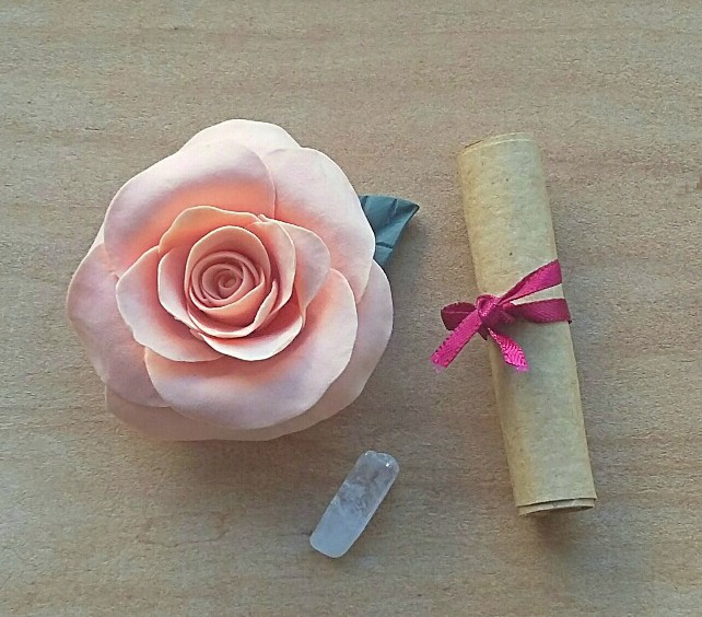 Hand made peach rose