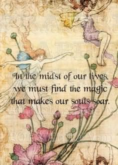 faerie picture with quote