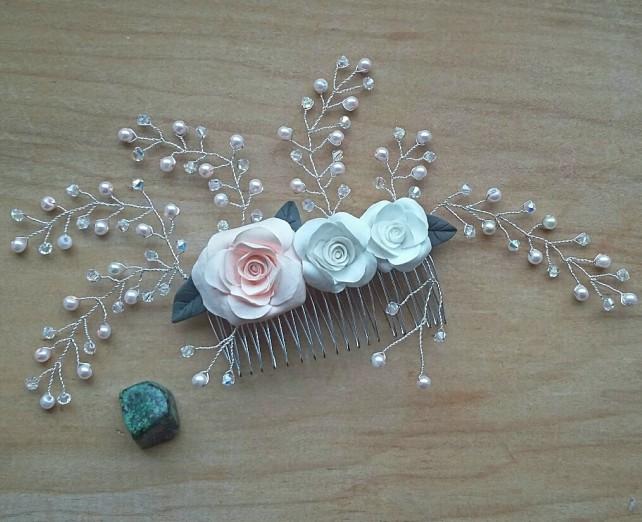Swaroski bridal hair comb